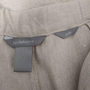 Liz Claiborne Pants - Liz Claiborne 100% Linen capri. Large.